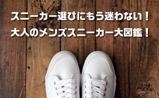 スニーカー選びにもう迷わない!大人のメンズスニーカー大図鑑!